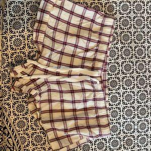 plaid victoria's secret sleep shorts